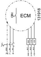 Ruck dakventilator verticaal met EC motor en opendraaiende ventilatie-unit 1970m³/h - DVA 280 ECP 31-3