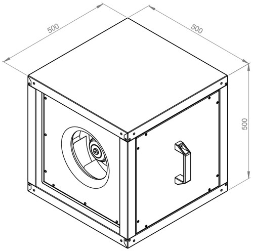 Ruck boxventilator MPC met EC motor 2030m³/h - MPC 280 EC 20-2