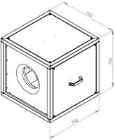 Ruck boxventilator MPC met EC motor buiten luchtstroom 6710m³/h - MPC 400 EC T21 -2