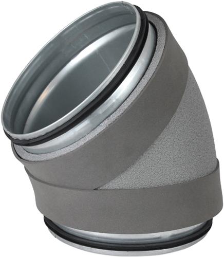 Thermoduct bocht 45 graden diameter 180 mm