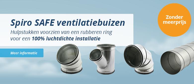Spiraalbuizen, hulpstukken en toebehoren spiro safe voor luchtdichte installatie