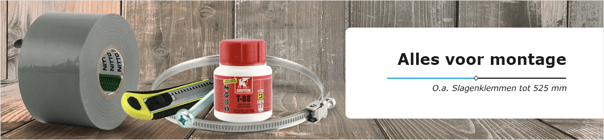 Bevestiging, beugels, klemmen en andere accessoires voor montage van ventilatie producten