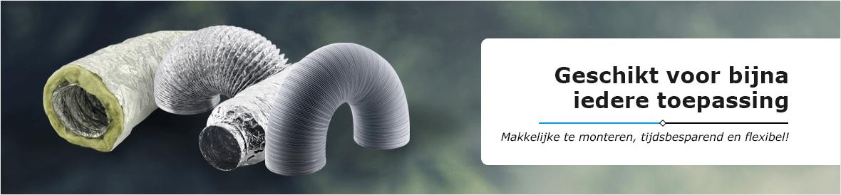 Flexibele gemakkelijk te monteren ventilatieslangen