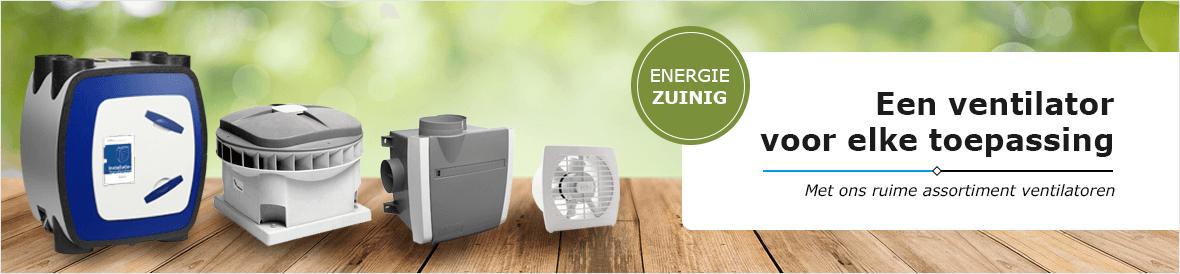 Ruim assortiment energiezuinige ventilatoren voor elke toepassing vindt u in de Ventilatieland webshop