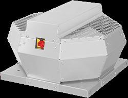 Ruck dakventilator verticaal met werkschakelaar, constante drukregeling en EC-motor (DVA ECCP-serie)