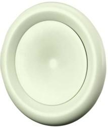 Ventilatie toevoer ventiel metaal Ø 80 wit met klemveren - DVSC-P080