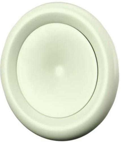 Ventilatie toevoer ventiel metaal Ø 125 wit met klemveren - DVSC-P125 (DVSC-P125)
