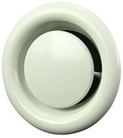 Ventilatie afvoer ventiel metaal Ø 80 mm wit met montagebus - DVS080