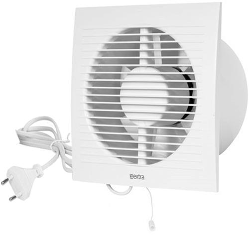 Badkamer ventilator 150 mm Wit met trekkoord en stekker - EE150WP