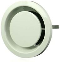 Ventilatie afvoer ventielen metaal 160 mm wit met klemveren – DVSER160