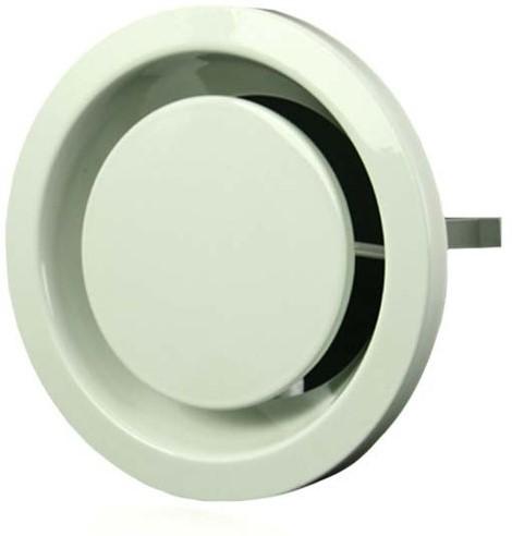 Ventilatie afvoer ventielen metaal 125 mm wit met klemveren – DVSER125