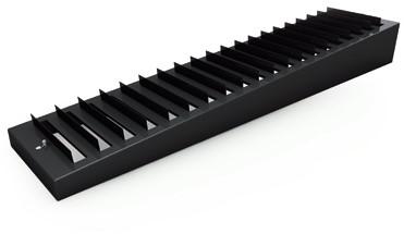 Schuin gemonteerde schuifklep 1225x75 (GT005-12250075)
