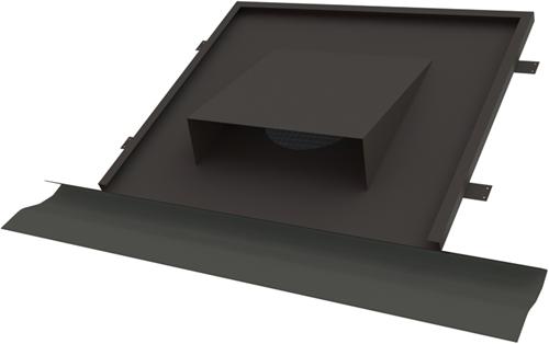Thermoduct vlakke horizontale dakdoorvoer diameter 180 tbv hellend dak (10109180)