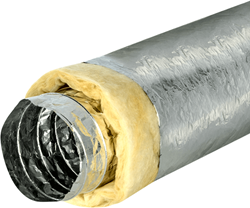 Isodec thermisch 127 mm geisoleerde ventilatieslang (10 meter)