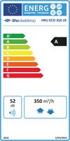 Itho Daalderop WTW HRU ECO 305 LR Energielabel