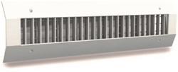 Kanaalrooster enkel instelbaar 1225x75 mm voor afvoer - spirobuis diameter 160-400 mm