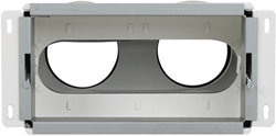 Uniflexplus wandcollector achteraansluiting 2x Ø 90 mm (VMCA 290)