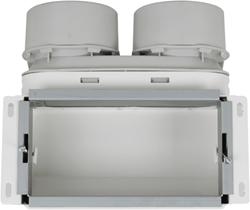 Uniflexplus wandcollector bovenaansluiting 2x Ø 90 mm (VMCB 290)