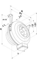 Maatsschema vents buisventilator