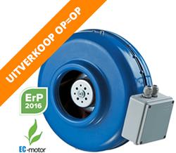 Buisventilator metaal energiezuinig (EC)