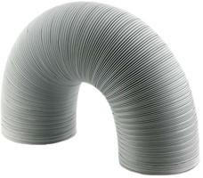Ventilatieslang, semi-flexibel (wit)