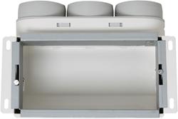 Uniflexplus wandcollector bovenaansluiting 3x Ø63 mm (MCB63)