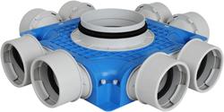Uniflexplus ventilatie subverdeelbox 8x Ø90 mm met tuit diameter 125