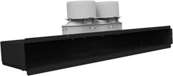 Uniflexplus lijncollector voor plafond of muuraansluiting  excl. rooster 2x Ø75 mm