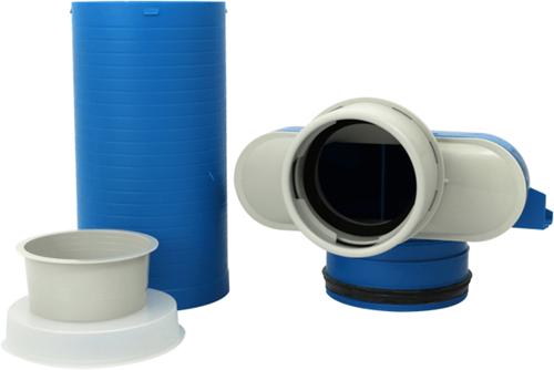 Vent-Axia Uniflexplus ventielcollector 1 x Ø90mm met schuifhuls 250mm en speciedeksel Ø125mm