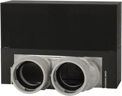 Uniflexplus ventilatie vloercollector excl. Rooster 2x Ø75 mm (BCB 75)