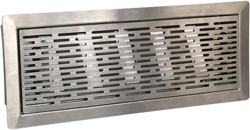 Uniflexplus ventilatie instelbaar vloerrooster met sleuven - GEPOLIJST RVS