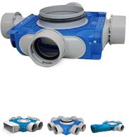 Uniflexplus 90mm verdeelboxen