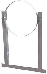 Aluminium dakbeugel voor spiraalbuis diameter 125mm