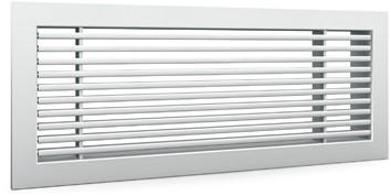 Staafrooster voor wandmontage met klemveren - 600x150 mm