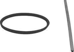 Afdichtingsrubber diameter  230 mm SILICONE