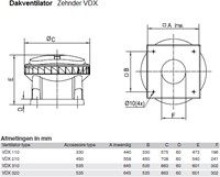 Zehnder - J.E. StorkAir dakventilator VDX110 1966m3/h met werkschakelaar - 230V