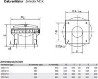 Zehnder - J.E. StorkAir dakventilator VDX110 0-10V 1966m3/h met werkschakelaar - 230V