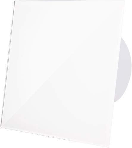 Badkamerventilator diameter 100 mm met Timer en inschakelvertraging - kunststof front glanzend wit