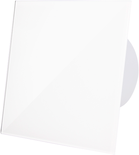 Badkamerventilator diameter 100 mm met Trekkoord en Stekker - kunststof front glanzend wit