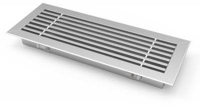 Staafrooster voor vloermontage met klemveren - 200x200 mm