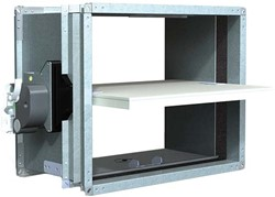 Rechthoekige brandklep 400 x 100 mm handbediend CU-LT + MFUSP