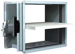 Rechthoekige brandklep 650 x 100 mm handbediend CU-LT + MFUSP