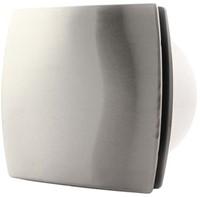 Badkamerventilator of toiletventilator diameter: 100 mm RVS Design met TIMER en VOCHTSENSOR T100HTi
