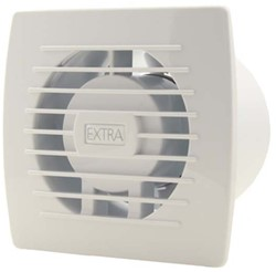 Badkamerventilator of toiletventilator diameter: 100 mm WIT met TIMER en VOCHTSENSOR E100HT