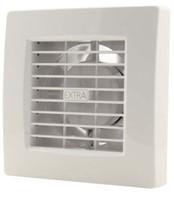 Badkamerventilator of toiletventilator diameter: 100 mm WIT Luxe met TIMER en VOCHTSENSOR X100HT