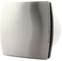 Badkamerventilator of toiletventilator diameter: 100 mm RVS Design met TIMER T100Ti