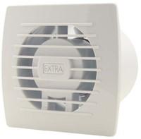Badkamerventilator of toiletventilator diameter: 100 mm WIT met TIMER E100T-1
