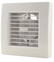 Badkamerventilator of toiletventilator diameter: 100 mm WIT Luxe met TIMER X100T-1