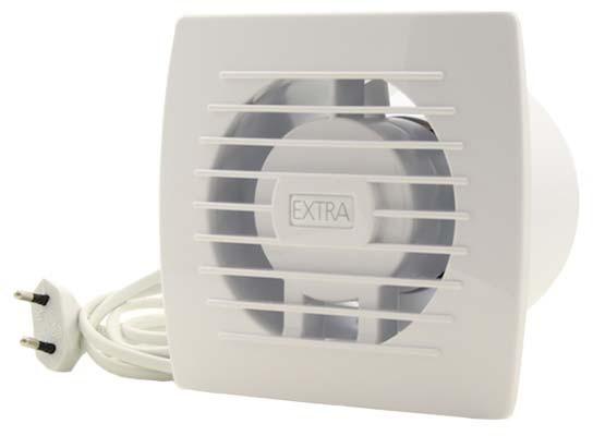 Badkamerventilator of toiletventilator diameter: 100 mm WIT voorzien ...