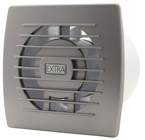 Badkamerventilator of toiletventilator diameter: 100 mm ZILVER basis E100S
